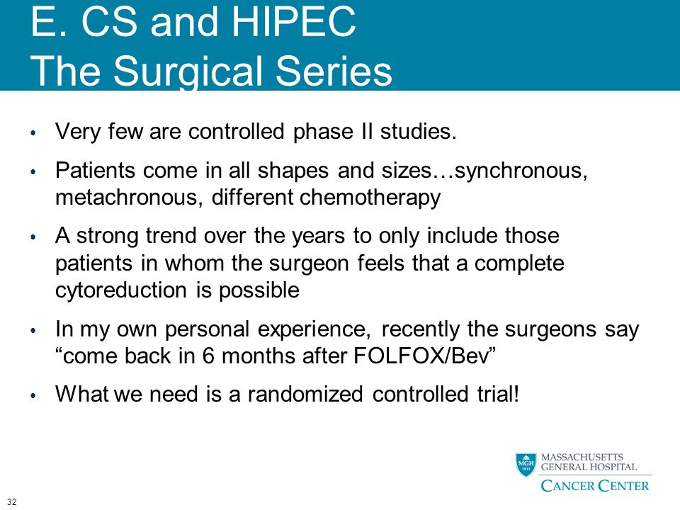 E. CS and HIPEC The Surgical Series