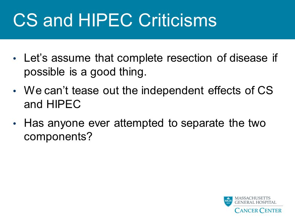 CS and HIPEC Criticisms