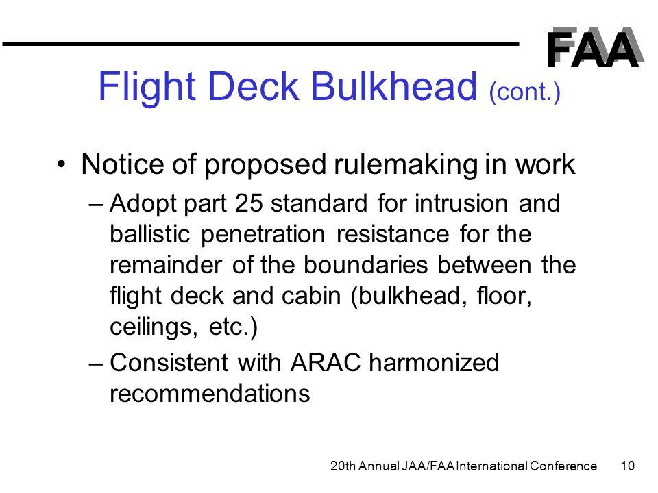 Flight Deck Bulkhead (cont.)