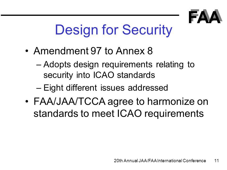 Design for Security Amendment 97 to Annex 8