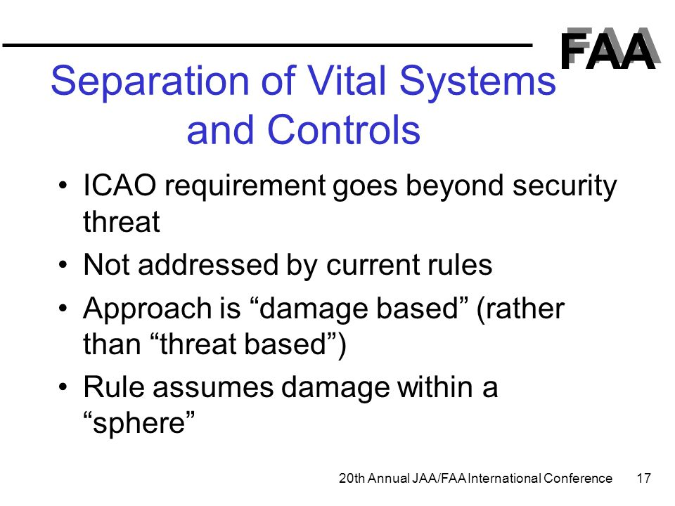 Separation of Vital Systems and Controls