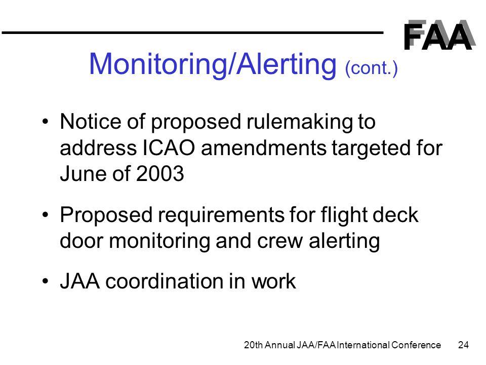 Monitoring/Alerting (cont.)