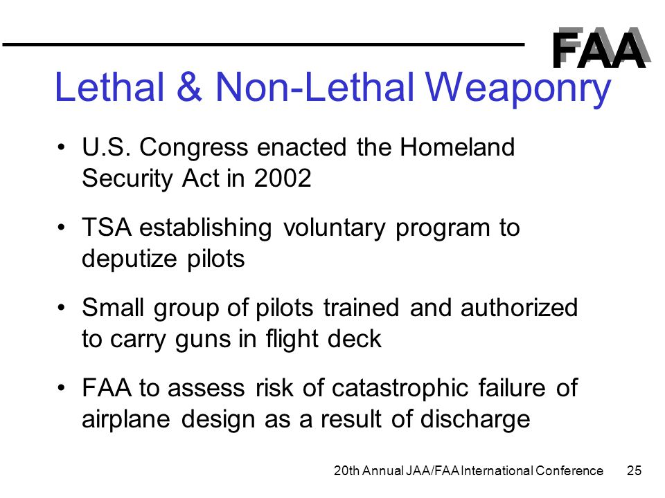 Lethal & Non-Lethal Weaponry