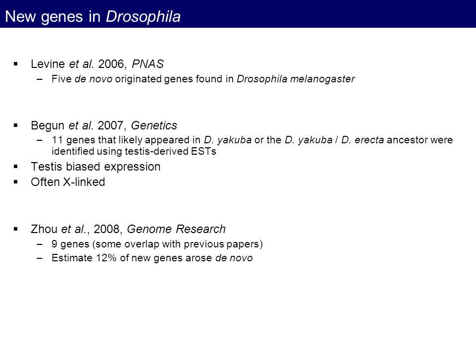 New genes in Drosophila