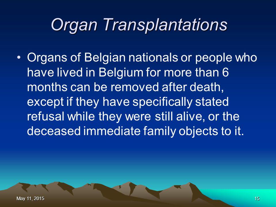 Organ Transplantations
