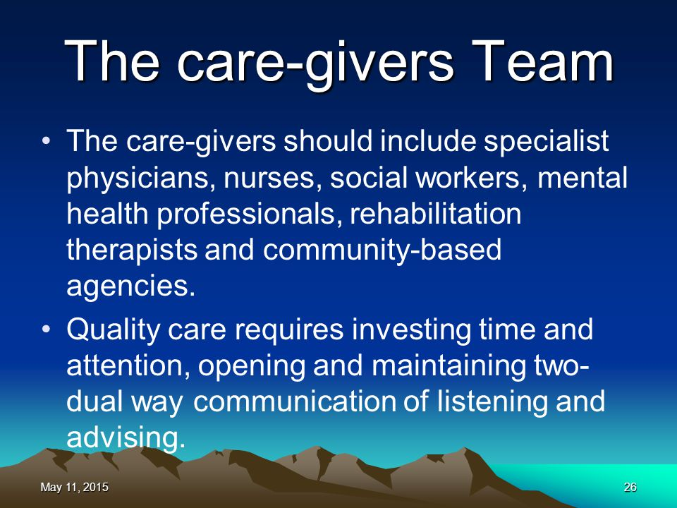 The care-givers Team