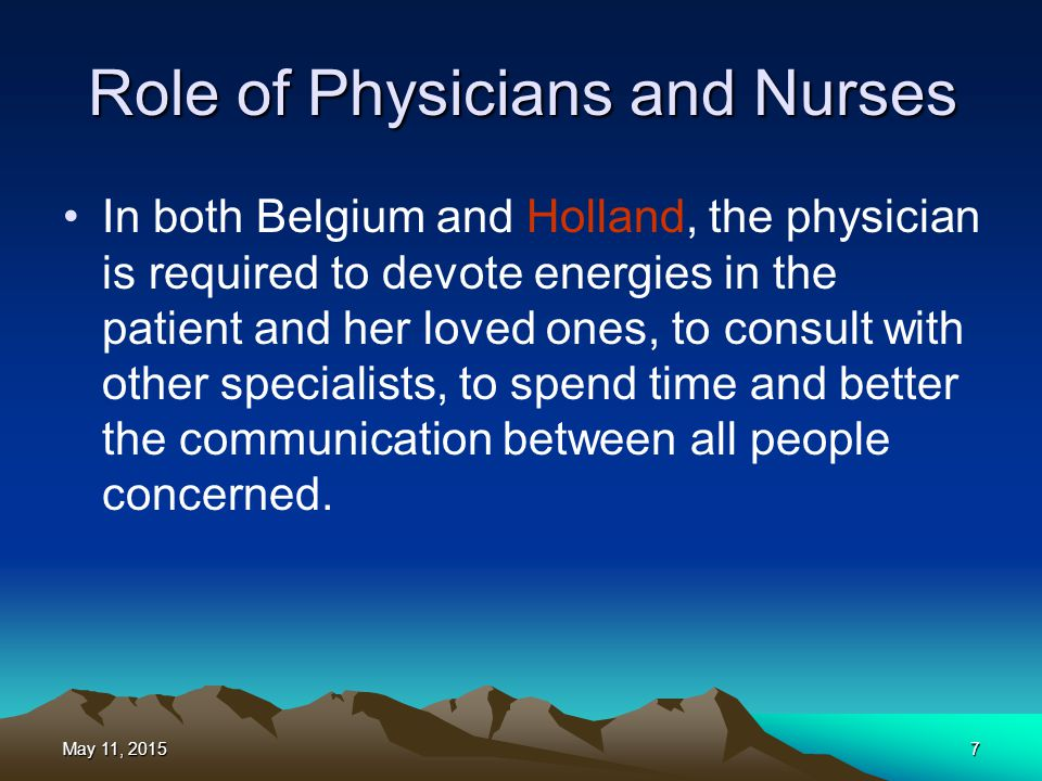 Role of Physicians and Nurses