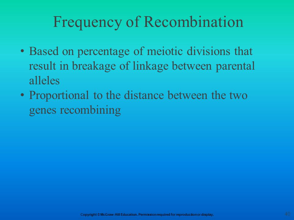 Frequency of Recombination
