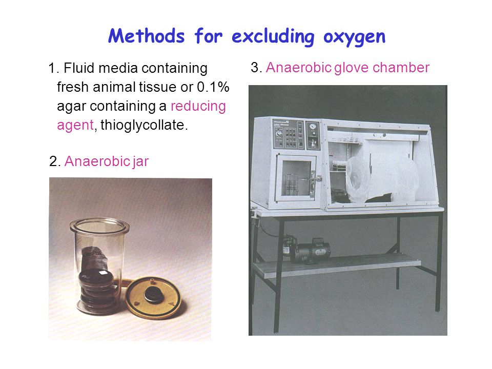 Methods for excluding oxygen