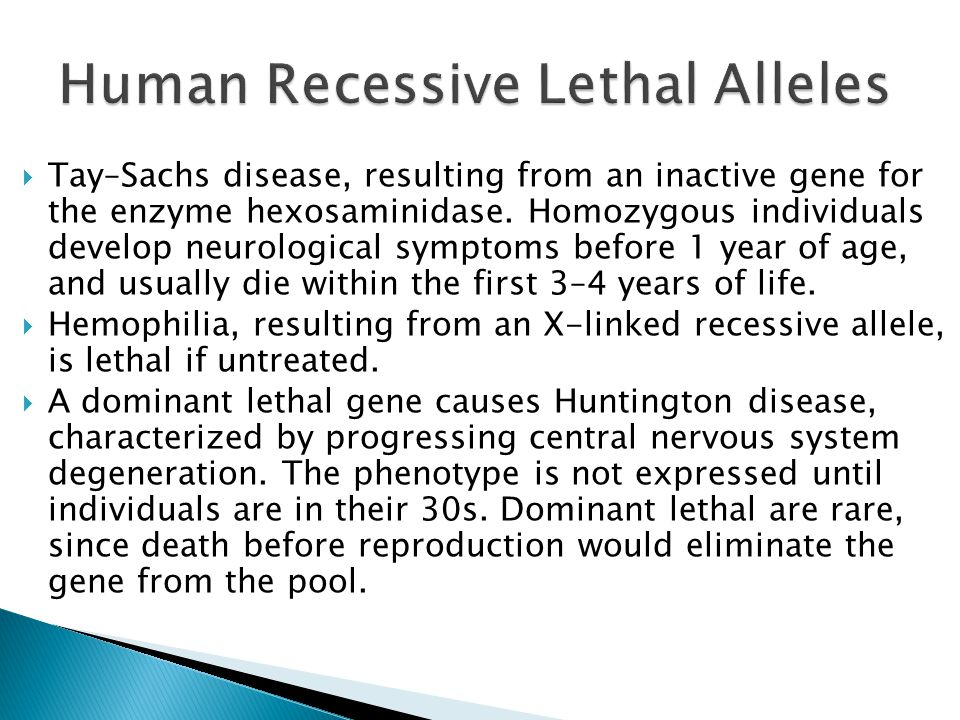Human Recessive Lethal Alleles