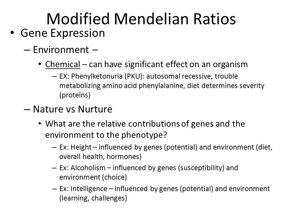 Modified Mendelian Ratios