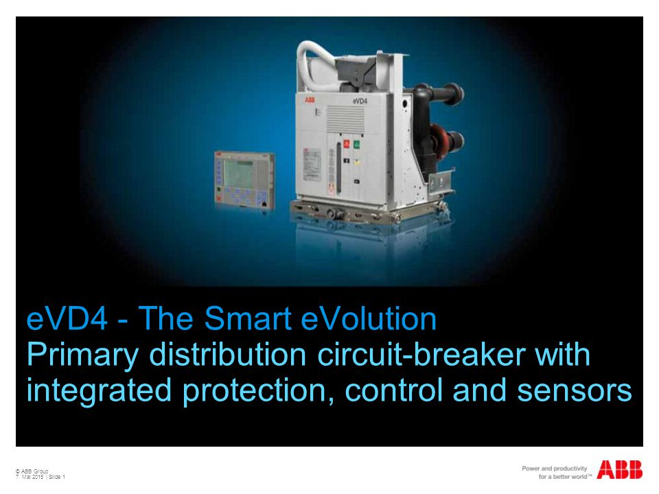 eVD4 - The Smart eVolution Primary distribution circuit-breaker with integrated protection, control and sensors