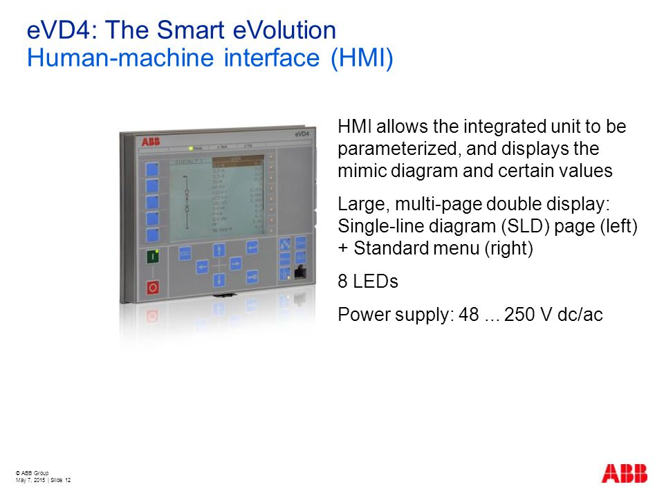 eVD4: The Smart eVolution Human-machine interface (HMI)
