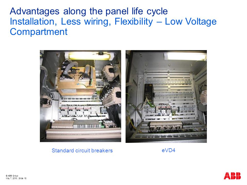 Advantages along the panel life cycle Installation, Less wiring, Flexibility – Low Voltage Compartment