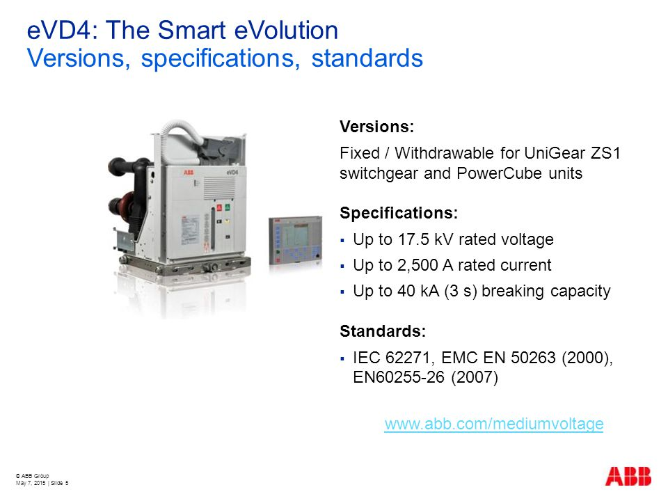 eVD4: The Smart eVolution Versions, specifications, standards