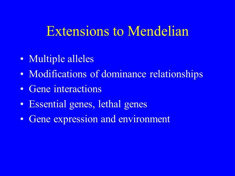 Extensions to Mendelian