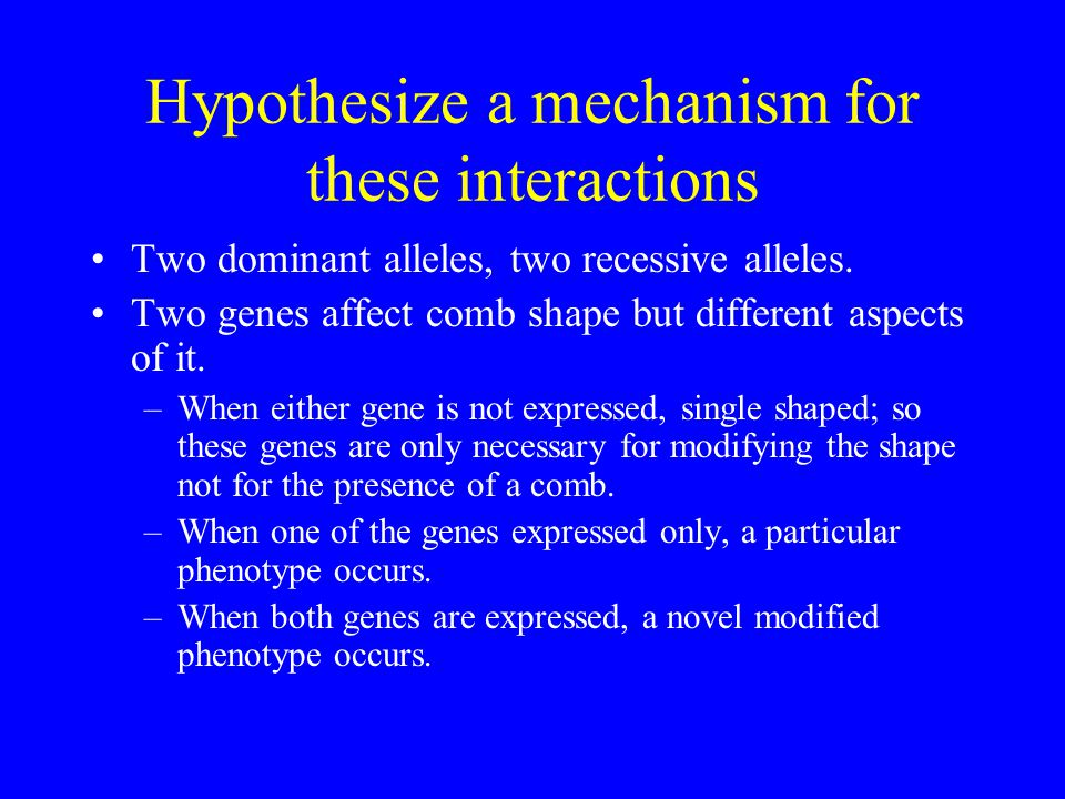 Hypothesize a mechanism for these interactions
