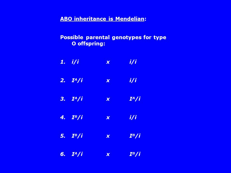 ABO inheritance is Mendelian: