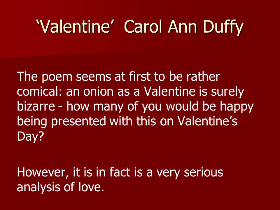 valentine carol ann duffy ppt video online valentine carol ann duffy