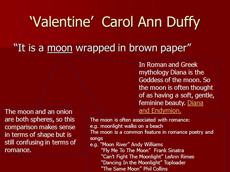'Valentine' Carol Ann Duffy