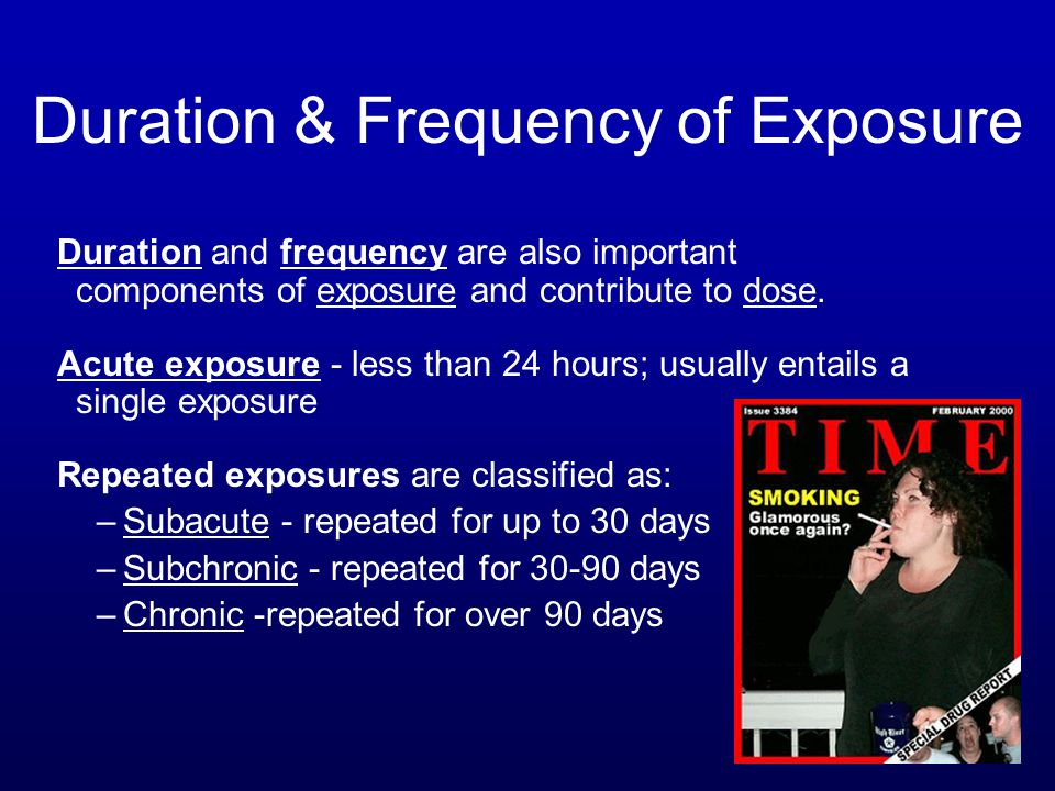Duration & Frequency of Exposure