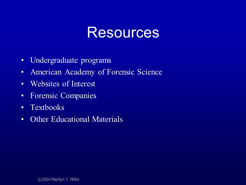 Resources Undergraduate programs American Academy of Forensic Science