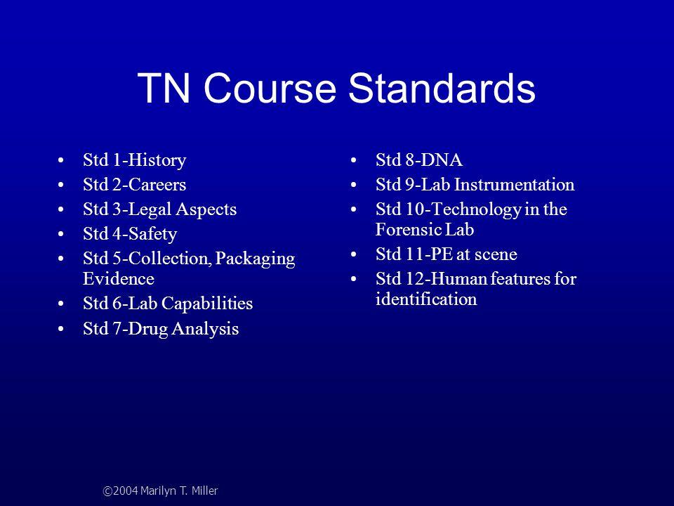 TN Course Standards Std 1-History Std 2-Careers Std 3-Legal Aspects