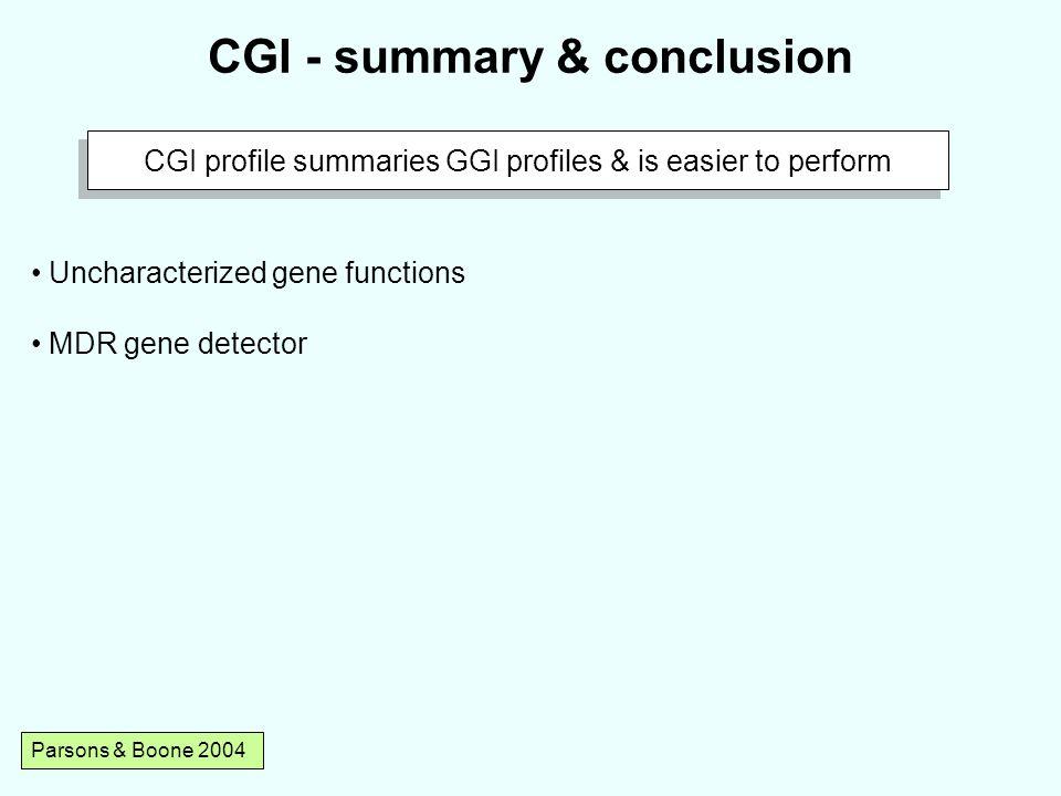 CGI - summary & conclusion