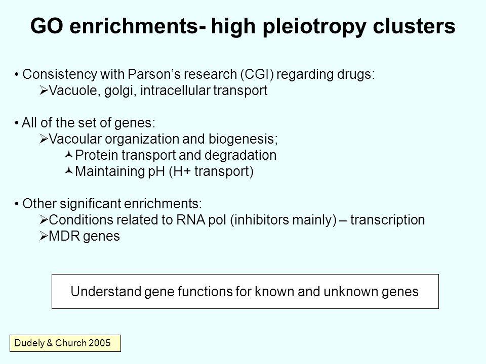 GO enrichments- high pleiotropy clusters