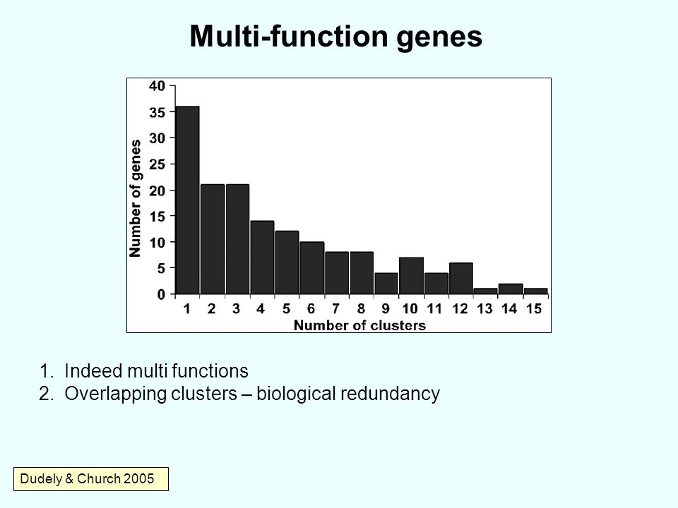 Multi-function genes Indeed multi functions