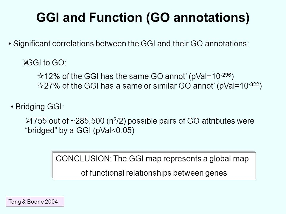 GGI and Function (GO annotations)