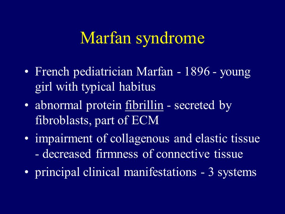 Marfan syndrome French pediatrician Marfan - 1896 - young girl with typical habitus.