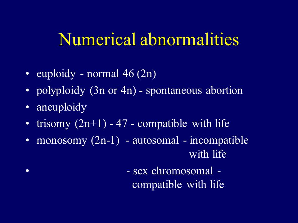 Numerical abnormalities