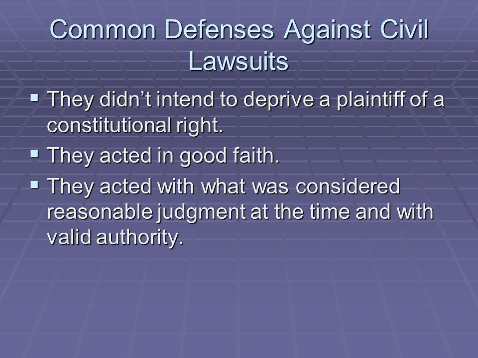 Common Defenses Against Civil Lawsuits