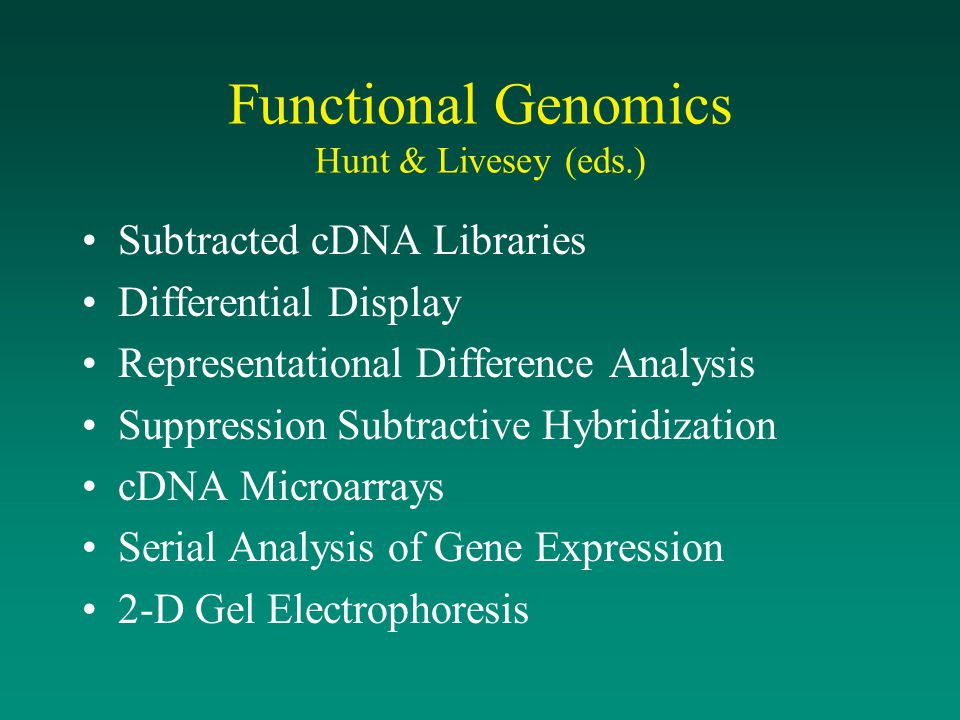 Functional Genomics Hunt & Livesey (eds.)