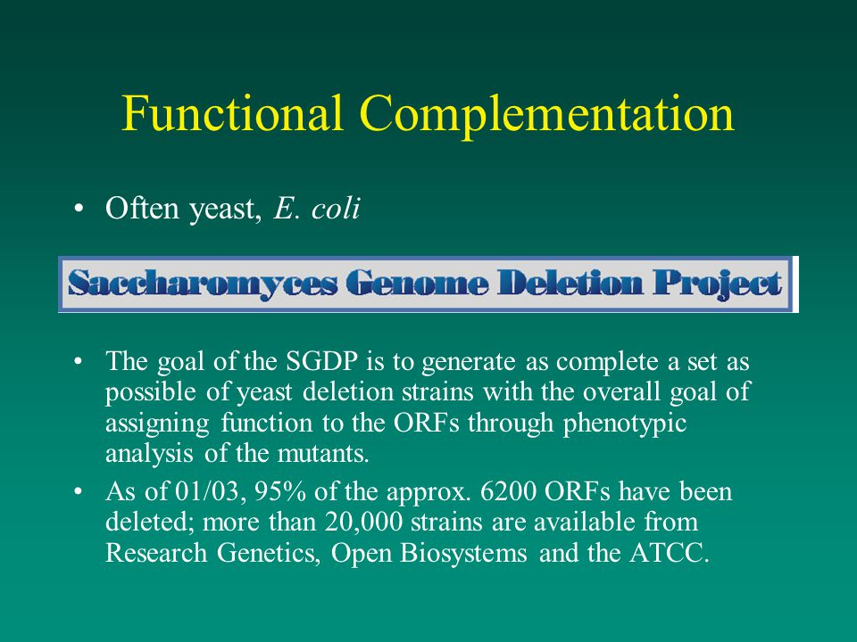 Functional Complementation