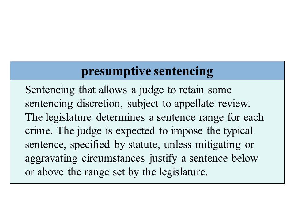 presumptive sentencing