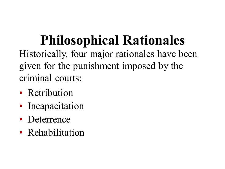 Philosophical Rationales