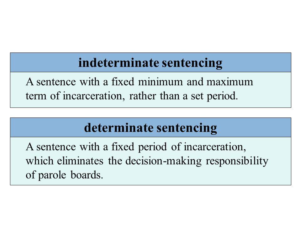 indeterminate sentencing determinate sentencing