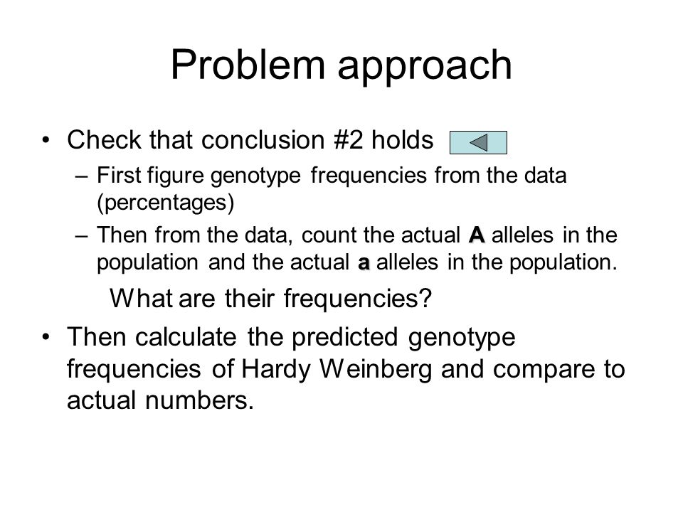 Problem approach Check that conclusion #2 holds