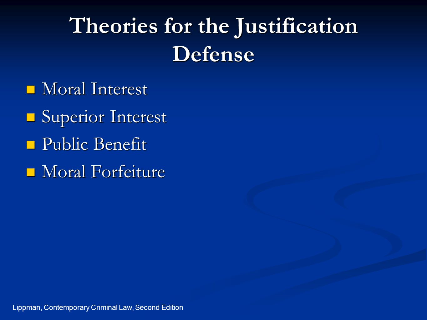 Theories for the Justification Defense