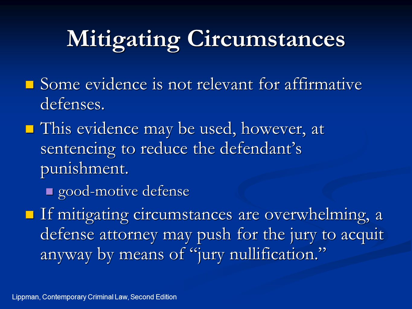 Mitigating Circumstances