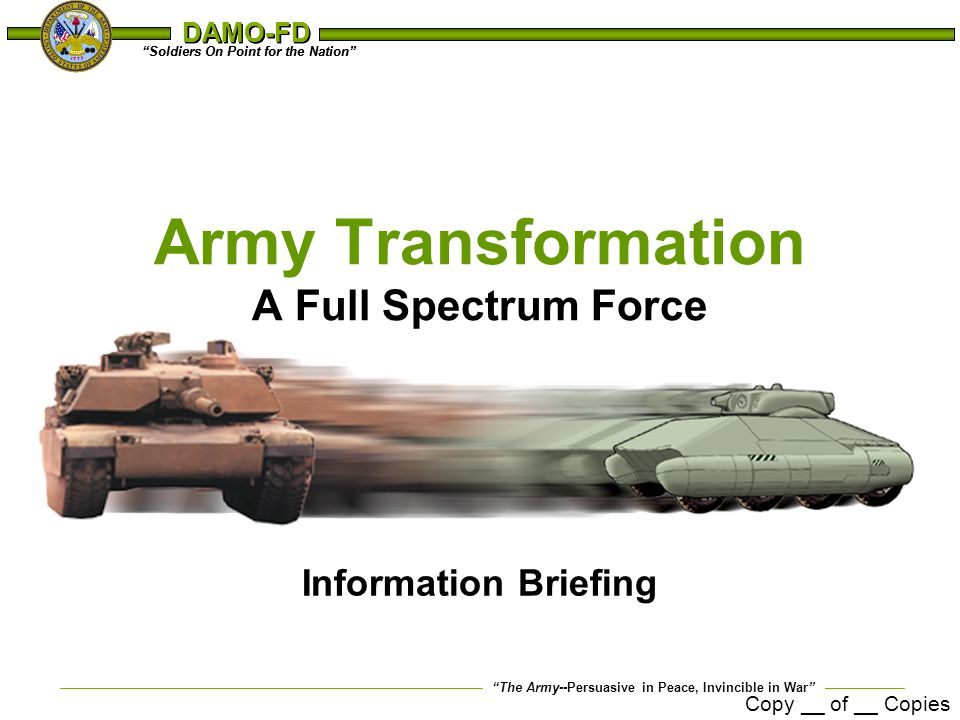 Army Transformation A Full Spectrum Force