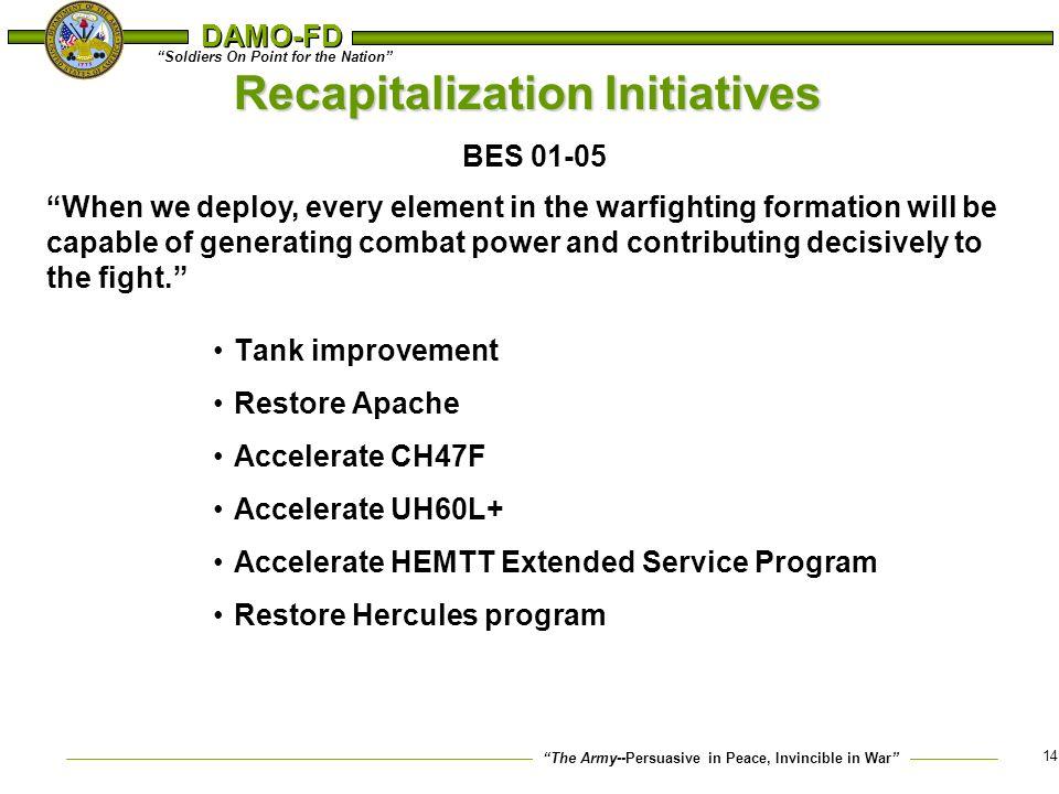 Recapitalization Initiatives BES 01-05