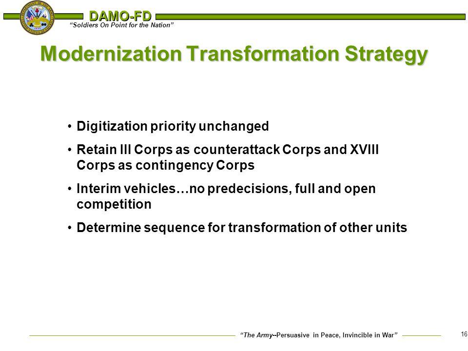 Modernization Transformation Strategy