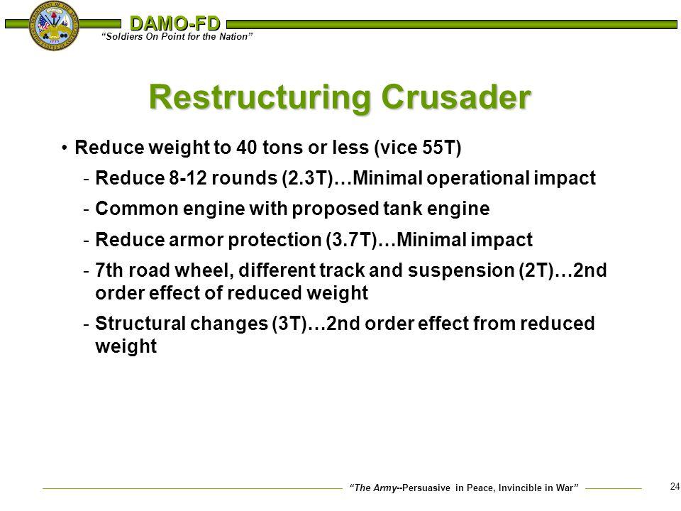 Restructuring Crusader