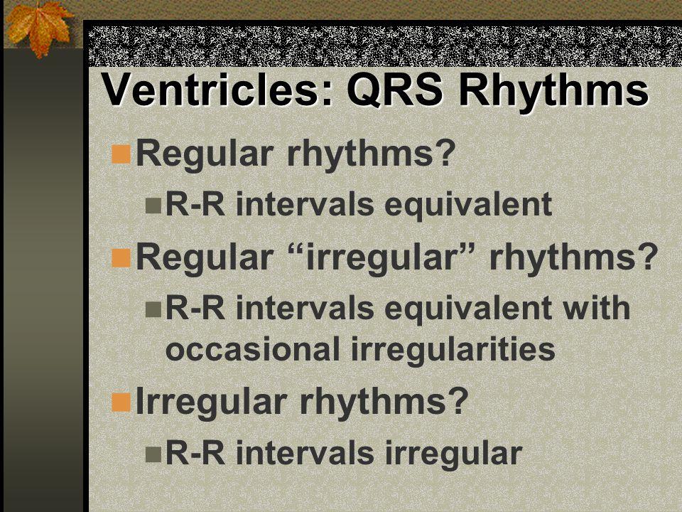 Ventricles: QRS Rhythms