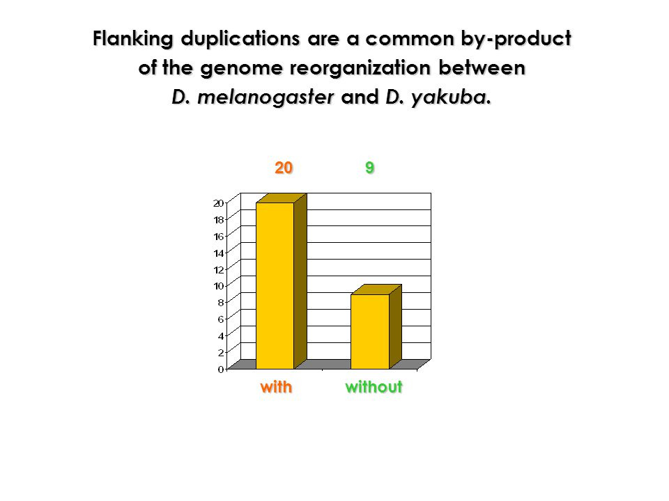 Flanking duplications are a common by-product