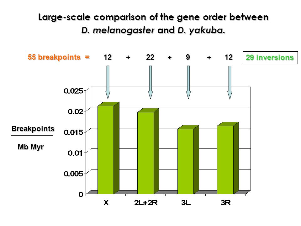 Large-scale comparison of the gene order between
