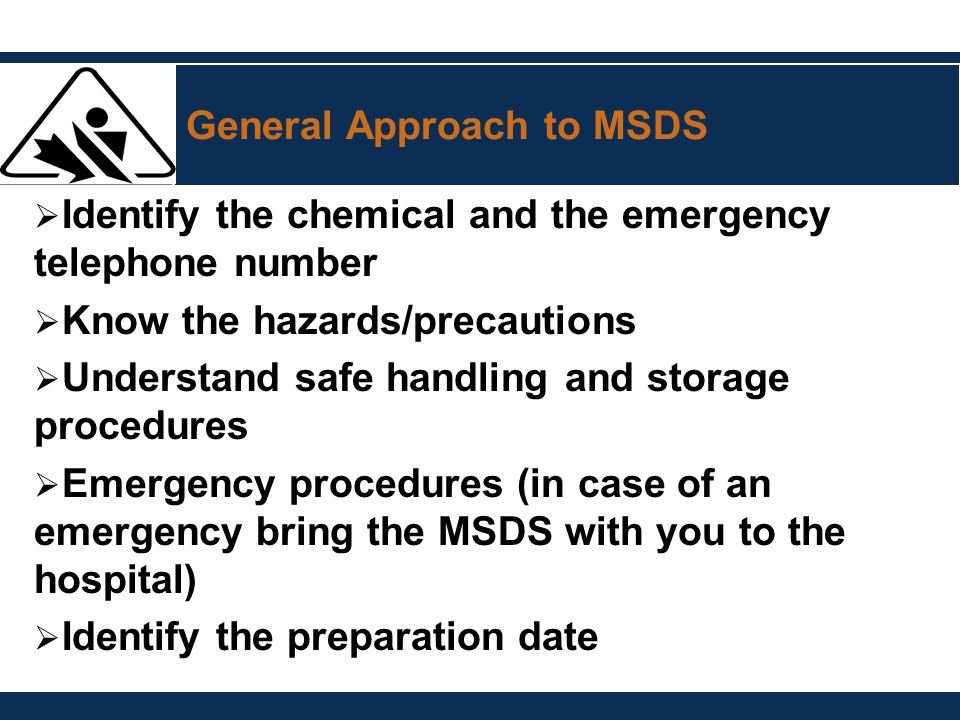 General Approach to MSDS